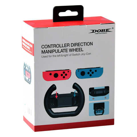 Dobe Steering Wheel for Switch Black - GameShop Malaysia