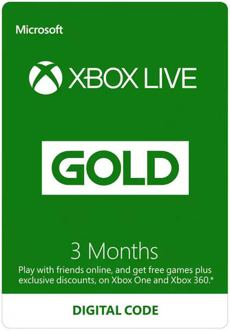 Xbox Live 3 Months Gold (South East Asia)