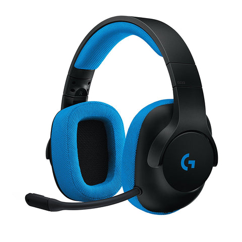 Logitech G233 Wired Gaming Headset for PC, Xbox One, PS4, Switch, Mobile - GameShop Malaysia