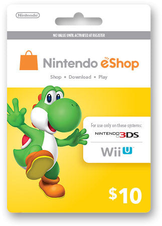 Nintendo eShop Prepaid Card USD10 - Digital Download