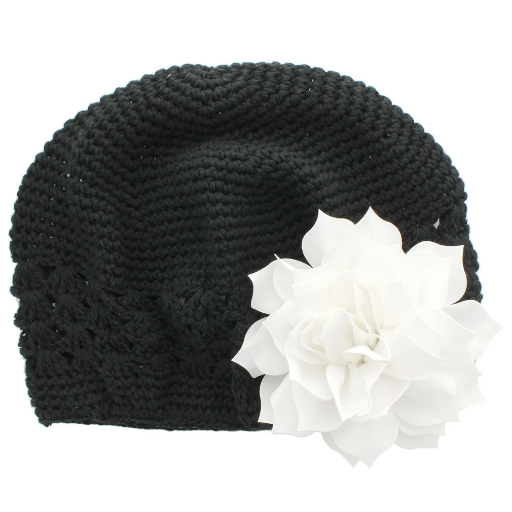 ebfb96f9b25 ... Black White Girls Kufi Crochet Beanie Hat