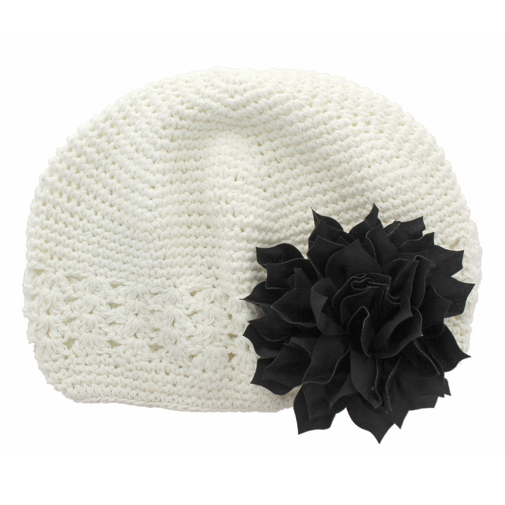 c364e32d8a0 ... White Black Girls Kufi Crochet Beanie Hat
