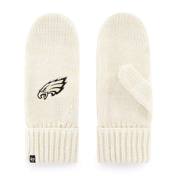 Philadelphia Eagles Meeko Mittens in White/Cream