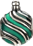 Chamilia Glitter Stripes Ornament Charm