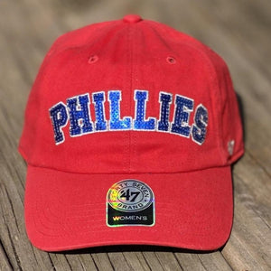 Philadelphia Phillies '47 Brand Natalie Sparkle Baseball Hat