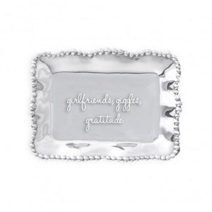 "Beatriz Ball Pearl Tray ""Girlfriends, Giggles, Gratitude"""