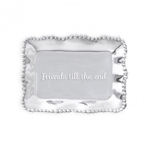 Beatriz Ball Organic Pearl Rectangular Engraved Tray -