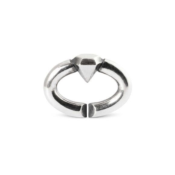 X By Trollbeads Diamond Single Link Silver