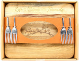 "Friends - 9"" Acacia Cheese/Bread Board Set"