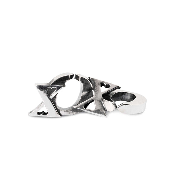 X By Trollbeads XOXO Double Link Silver