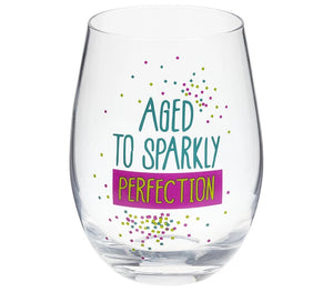 Birthday Wishes Stemless Wine Glass