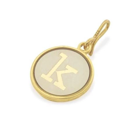 Alex and Ani Initial K Chain Station Charm Gold