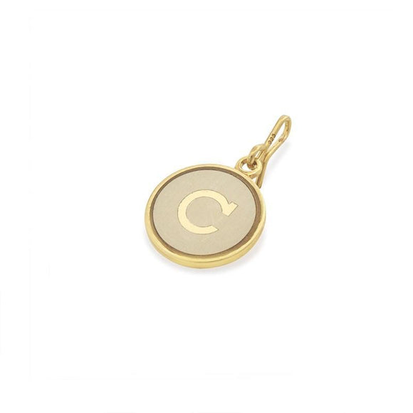 Alex and Ani Initial C Chain Station Charm Gold