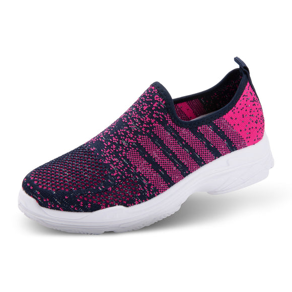 Serena Athleisure Shoes Navy & Pink Stripes