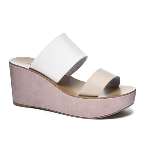 Chinese Laundry Ollie Slide Sandal Wedge Natural