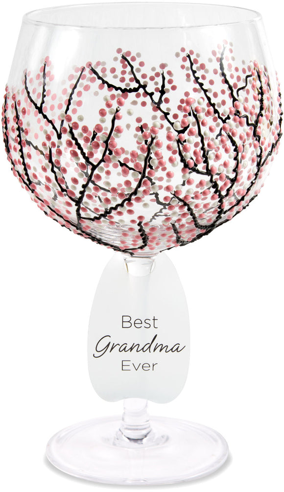 Best Grandma Ever with Pink Cherry Blossoms Decor