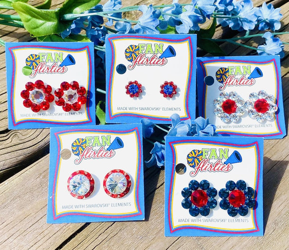 Patriotic Fan Flirties Earrings
