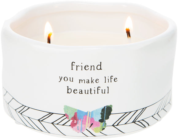 Friend - Soy Wax Candle 8oz Scent: Tranquility