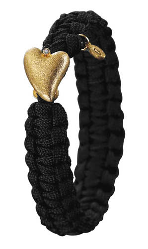 From Soldier to Soldier Black Gold Heart with Diamond Clasp