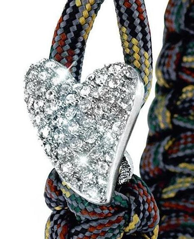 From Soldier to Soldier Camo Sterling Silver Swarovski Heart