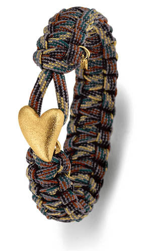 From Soldier to Soldier Camo Bracelet Gold Heart Clasp