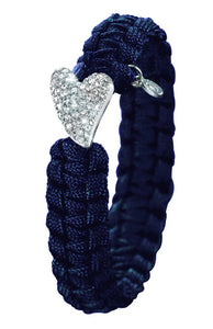 From Soldier to Soldier Navy Sterling Silver Swarovski Heart