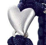 From Soldier to Soldier Navy Bracelet Silver Heart Clasp