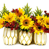 Gold Pearl Vase Wraps By Lucy Grymes