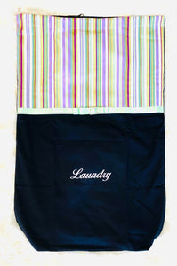 Laundry Bag Violet Beach Stripe