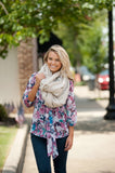 Viv & Lou Londyn Monogrammable Infinity Scarf Cream