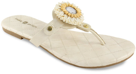 Lindsay Phillips Rosie Ivory Quilt Snap Shoe