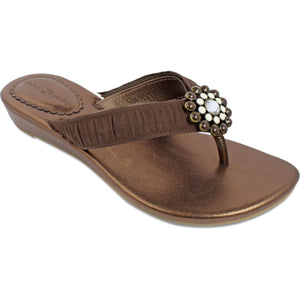 Lindsay Phillips Switchflops Janet Bronze Sandal