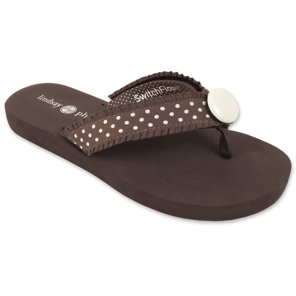 Lindsay Phillips Switchflops Lulu Brown Flat