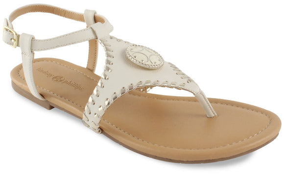 Lindsay Phillips Milly Ivory T-Strap Snap Shoe