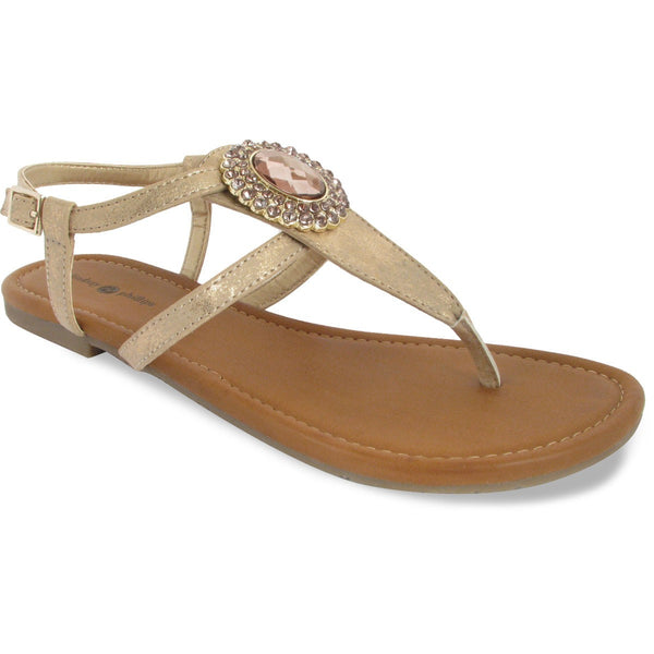 Lindsay Phillips Switchflops Meredith Rose Gold T-Strap Sandal