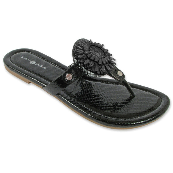 Lindsay Phillips Switchflops Rosie Black Snakeskin