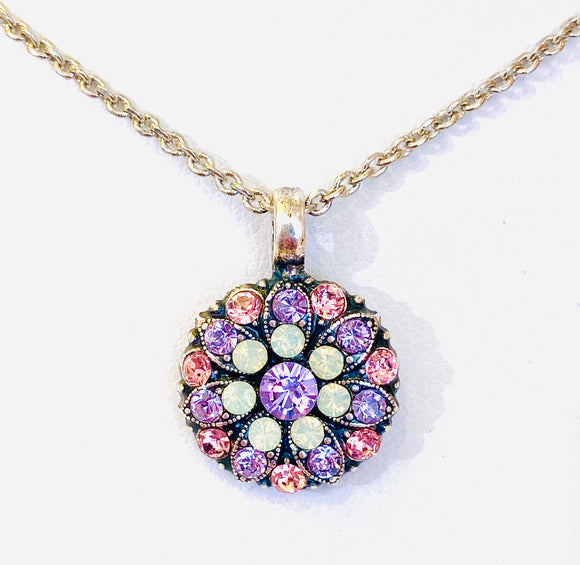 Mariana Guardian Angel Necklace Pink, Lavender & Opal