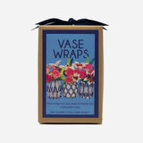 Navy Blue Vase Wraps By Lucy Grymes