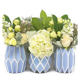Periwinkle Vase Wraps By Lucy Grymes