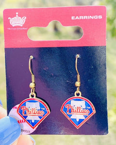 Philadelphia Phillies Liberty Bell Dangle Earrings