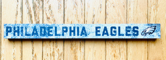 Philadelphia Eagles Distressed Strip Plaque