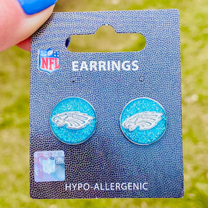 Philadelphia Eagles Glitter Post Earrings