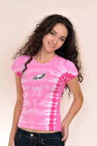 Philadelphia Eagles Pink Baby Doll Tie Dye Short Sleeve