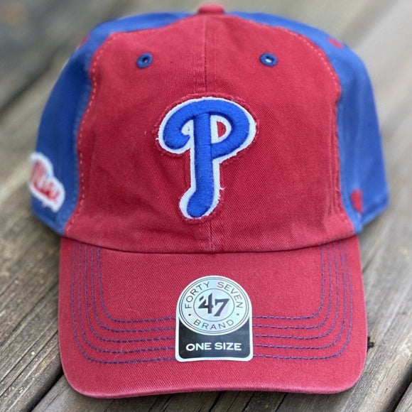 Philadelphia Phillies Bower Red & Royal Clean Up Baseball Hat by '47 Brand