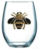 Queen Bee Diamond Stemless Wine Glass