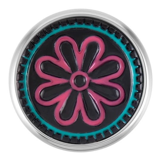 Ginger Snaps Pink Flower Black