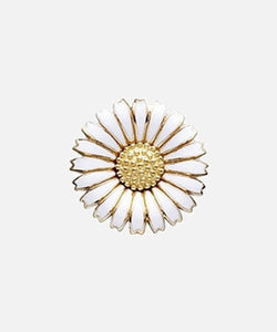 STORY Kranz & Ziegler Daisy Button Gold Plate White 15mm (Large)
