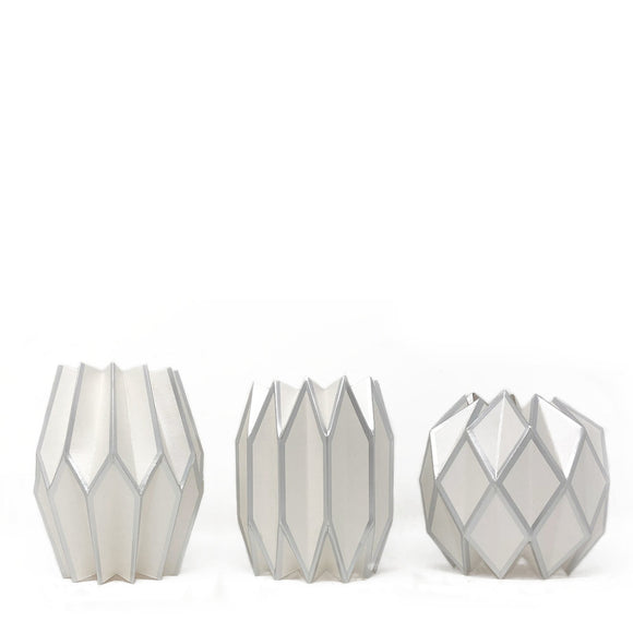 Silver Pearl Vase Wraps By Lucy Grymes