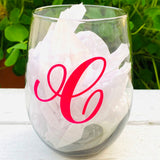 Stemless Wine Glass Personalized with Lindor Chocolates