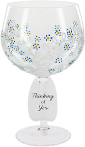 Thinking Of You Wine Glass Forget Me Not Flower